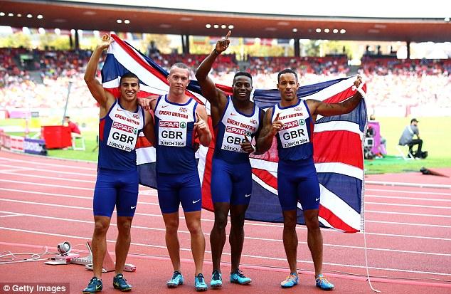 Мужская сборная команда Великобритании победила в эстафете 4х100 м на чемпионате Европы по легкой атлетике