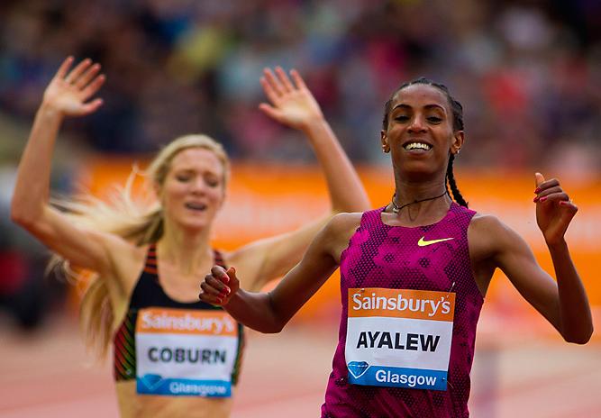 Хивот Айялью заняла первое место в забеге на 3000 м с препятствиями на одиннадцатом этапе Бриллиантовой лиги