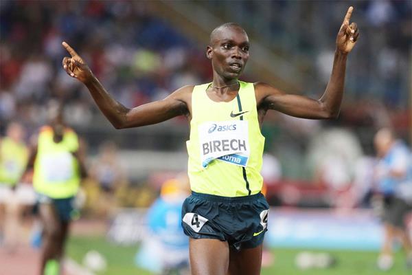 Джайрус Биреч - победитель забега на 3000 м с препятствиями на этапе Бриллиантовой лиги в Бирмингеме