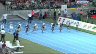 Women's 100m IAAF Meeting Warsaw 2014