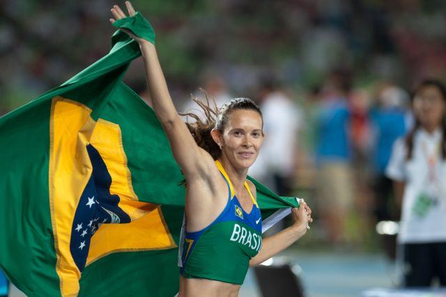 Фабиана Мурер - победительница прыжков с шестом на тринадцатом этапе Бриллиантовой лиги