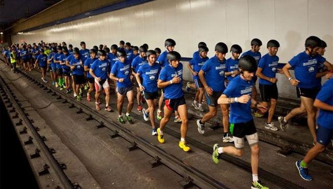 В метро Барселоны состоялся легкоатлетический забег