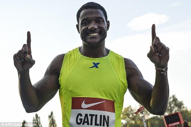 Джастин Гэтлин - победитель забега на 100 м на этапе Мирового вызова в Риети + Видео