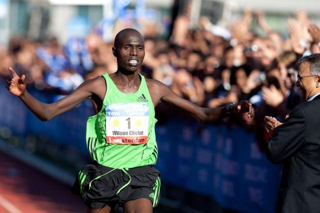 Уилсон Чебет и Абель Кируи примут участие в Амстердамском марафоне 2014