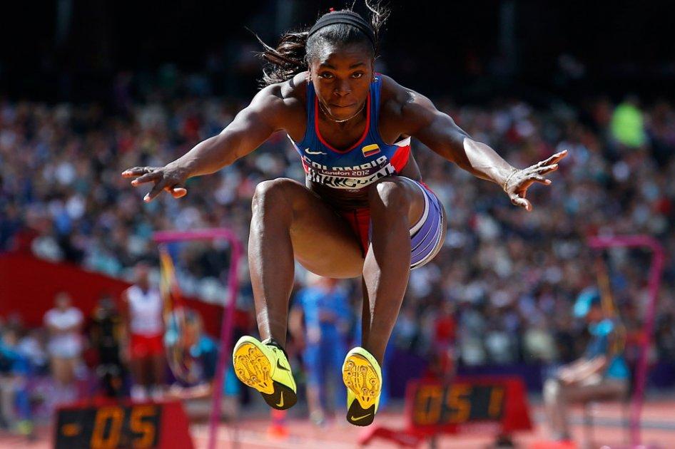 Катерине Ибаргуэн победитела в тройном прыжке на Континентальном кубке 2014