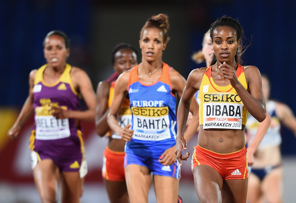 Гензебе Дибаба – победительница забега на 3000 м на Континентальном кубке 2014 + Видео