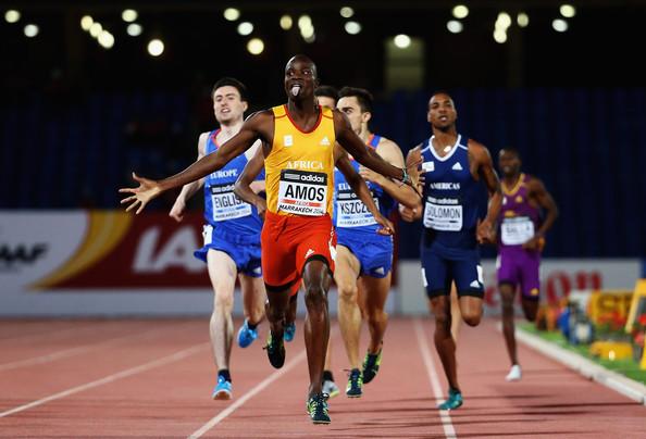 Найджел Амос – победитель забега на 800 м на Континентальном кубке в Марракеше + Видео