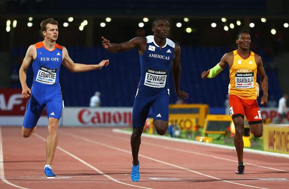 Алонсо Эдвард победил в забеге на 200 м на Континентальном кубке в Марракеше + Видео