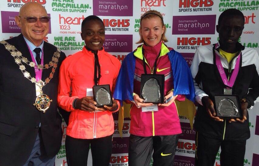 Екатерина Стеценко одержала победу на Bournemouth Marathon Festival 2014