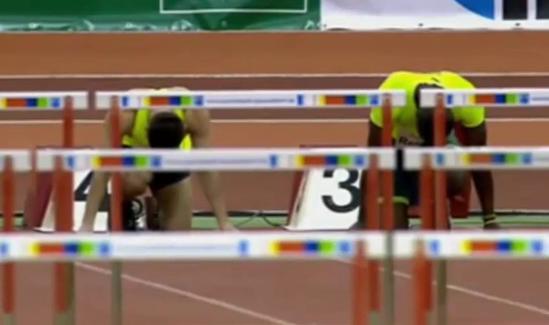 Dayron Robles 7.61 - Men's 60 Metres Hurdles Final - Düsseldorf Meeting 2015