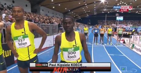3000m Men Karlsruhe - IAAF Indoor Meeting 2015