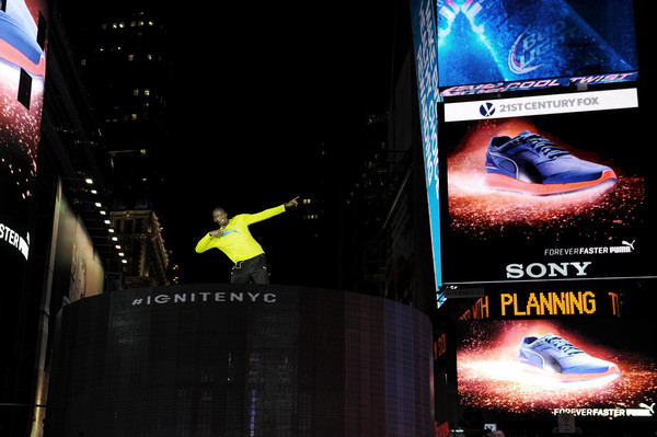 Усэйн Болт устроил шоу в самом центре Нью-Йорка +Видео