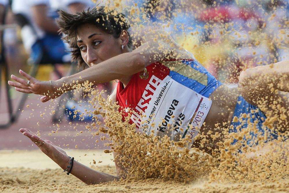 Екатерина Конева — чемпионка России в прыжках в длину