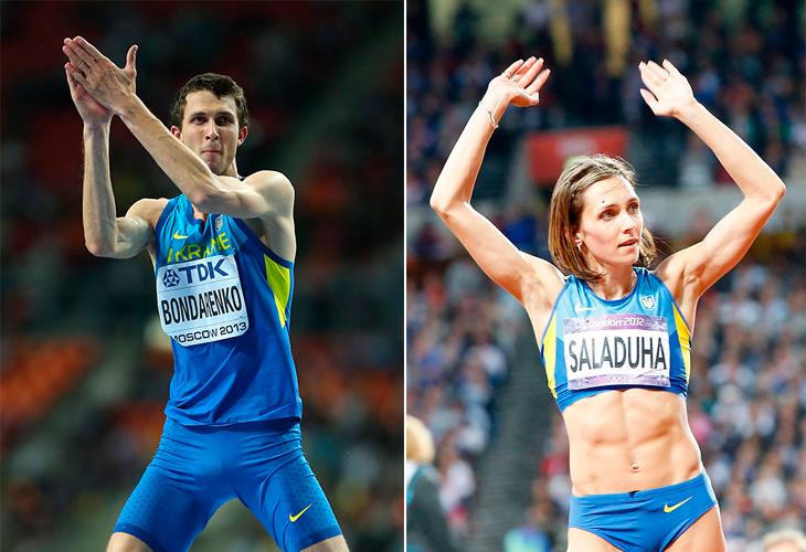 Богдан Бондаренко и Ольга Саладуха - лучшие легкоатлеты Украины 2014 года