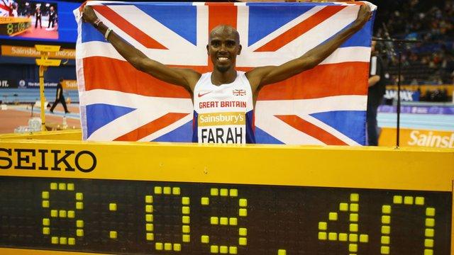 Мо Фара установил мировой рекорд на 2 мили в Бирмингеме-2015 +Видео