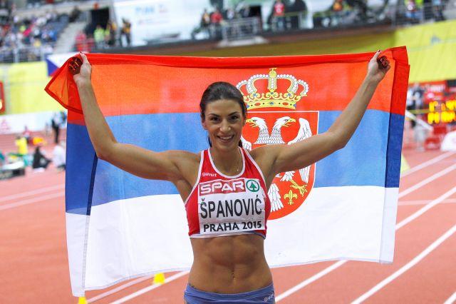 Сербка Ивана Шпанович одержала победу в прыжках в длину на Чемпионате Европы в Праге + Видео