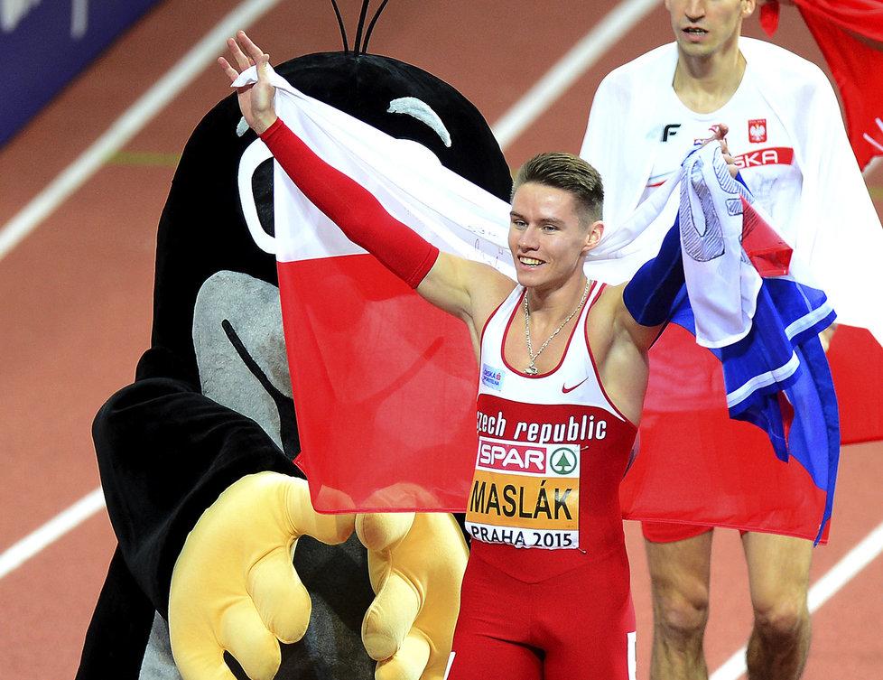 Павел Маслак – победитель забега на 400 м на Чемпионате Европы в Праге + Видео