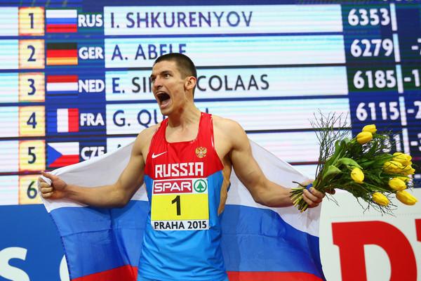 Илья Шкуренев одержал победу в семиборье на Чемпионате Европы в помещении
