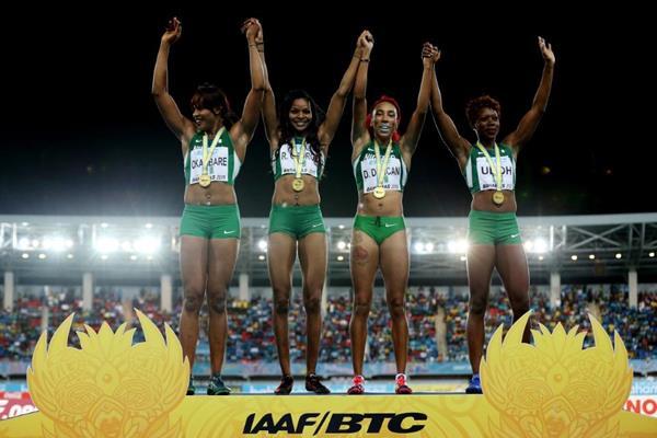 Сборная Нигерии победила в женской эстафете 4х200м на ЧМ по эстафетному бегу +Видео