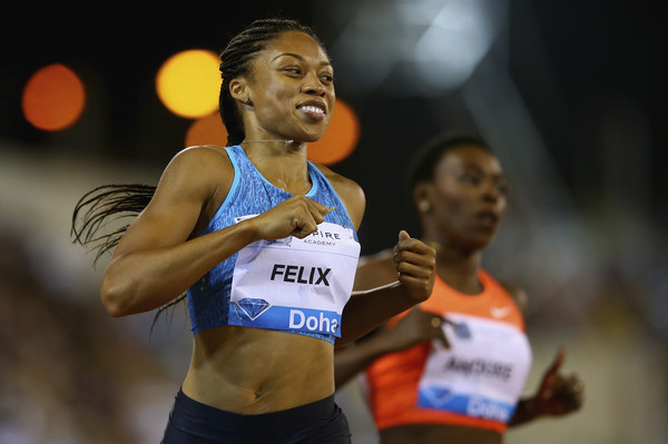 Эллисон Феликс победительница забега на 200 м на этапе Бриллиантовой лиги в Дохе + Видео