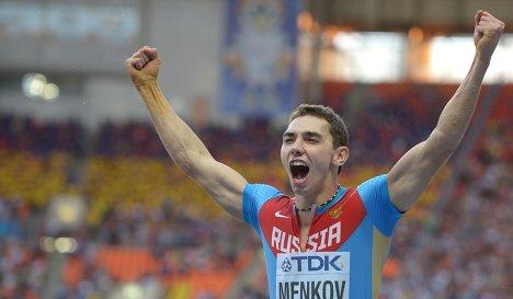 Александр Меньков – победитель второго этапа Бриллиантовой лиги в в прыжках в длину  +Видео