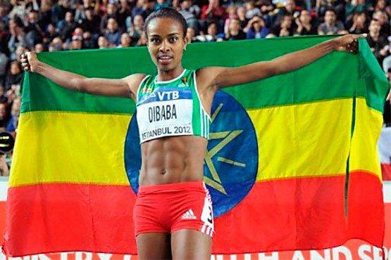 Гензебе Дибаба победила на этапе Бриллиантовой лиги в Осло в беге на 5000м +Видео