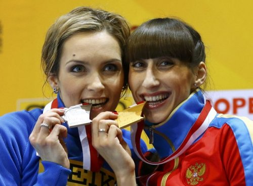 Екатерина Конева и Ольга Саладуха - призеры этапа Бриллиантовой лиги в Юджине