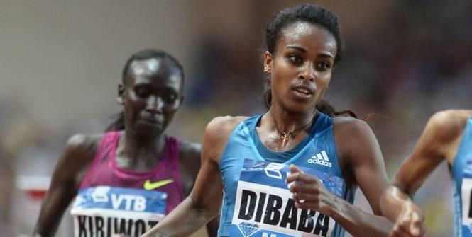 Гензебе Дибаба установила новый мировой рекорд в беге на 1500м +Видео
