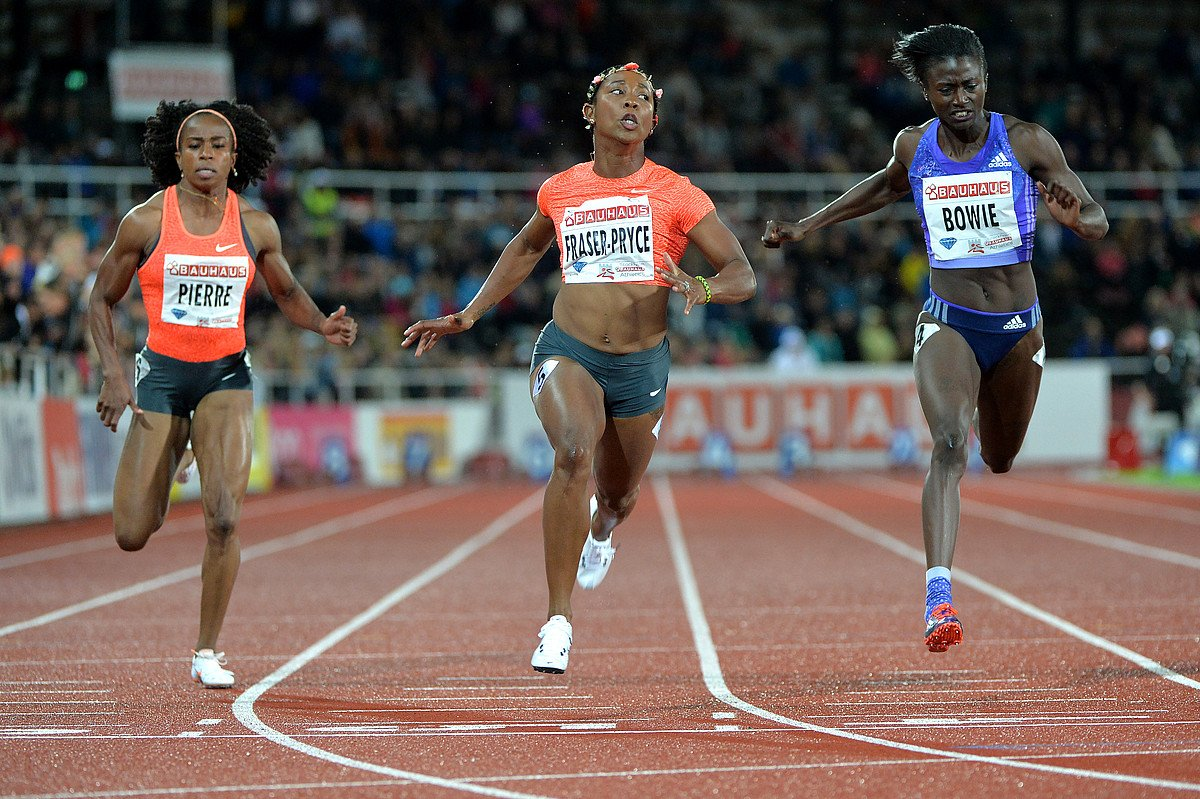 Shelly-Ann Fraser-Price 10.93 wins 100m DL Stockholm 2015