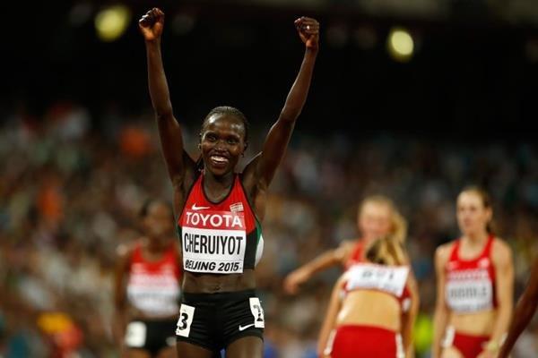 Вивиан Джепкемой Черуйот ыиграла золото чемпионата мира в Пекине в беге на 10 000 м +Видео