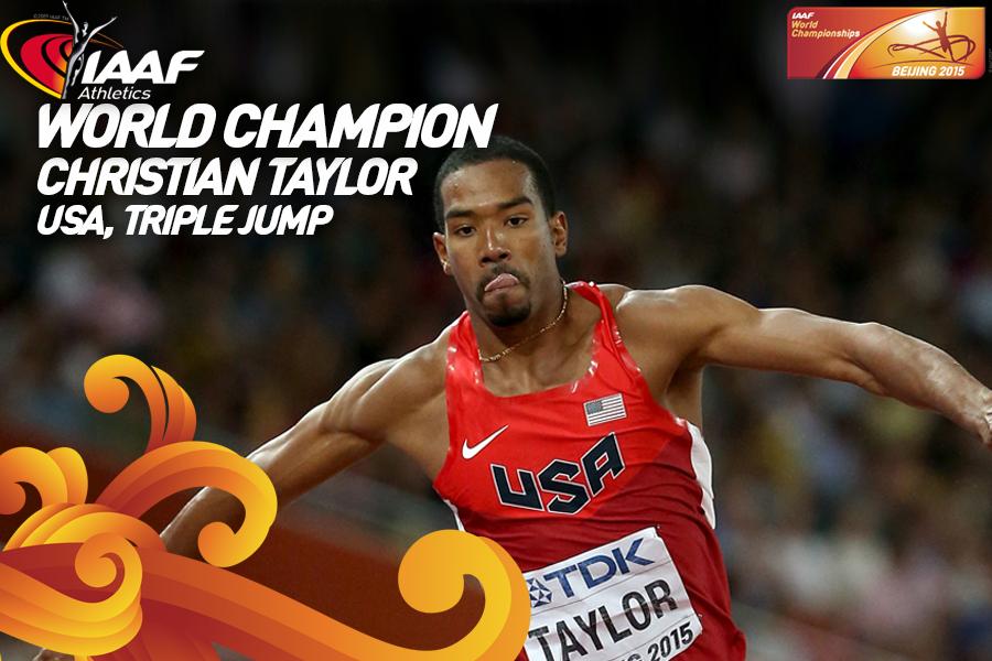 Кристиан Тэйлор выиграл золото чемпионата мира в тройном прыжке
