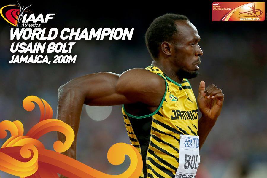 Усэйн Болт одержал победу на 200 м чемпионата мира +Видео