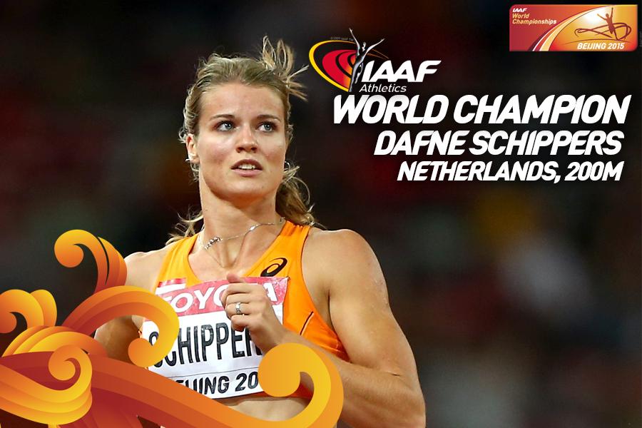 Дафне Схипперс  победила в финале 200 м на чемпионате мира