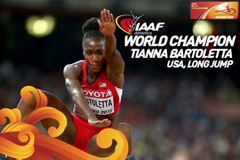 Тианна Бартолетта завоевала золото ЧМ в прыжках в длину +Видео