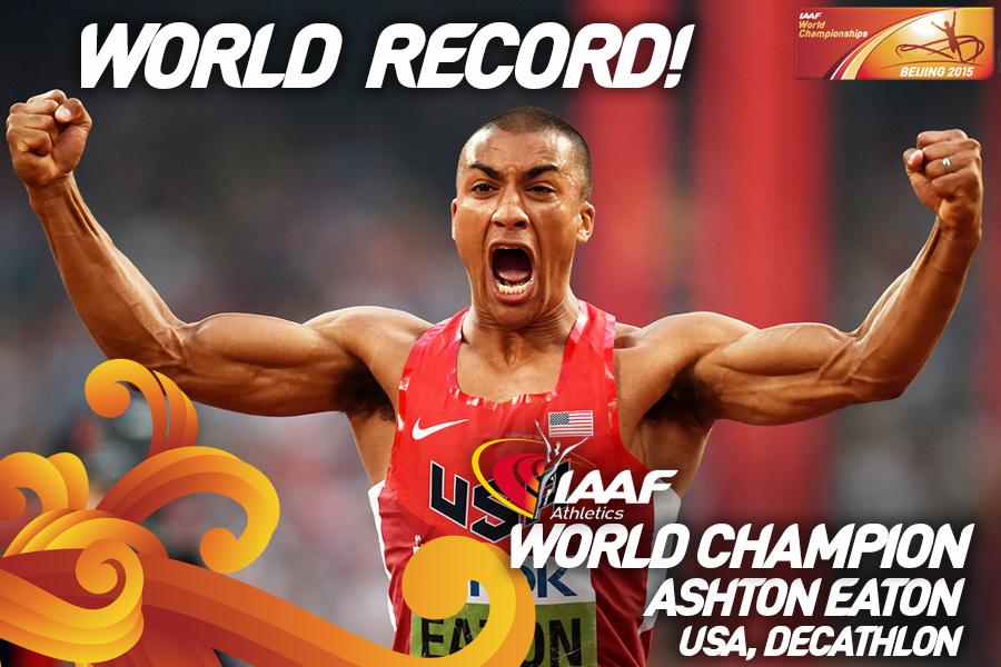 Эштон Итон с мировым рекордом выиграл многоборье ЧМ