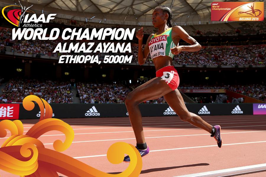 Эфиопки заняли весь подиум на 5000 м ЧМ +Видео