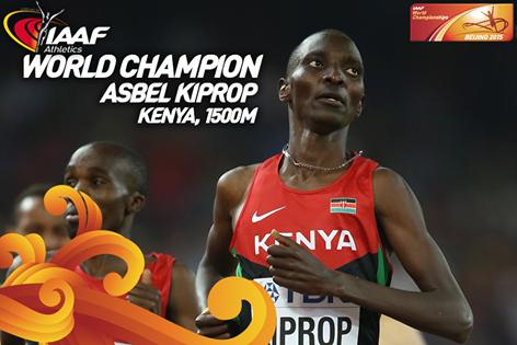 Асбель Кипроп одержал победу ЧМ в беге на 1500 м +Видео