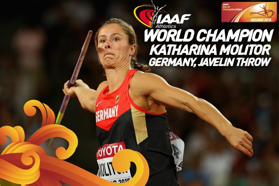 Катрина Молитор стала чемпионкой мира по лёгкой атлетике в метании копья