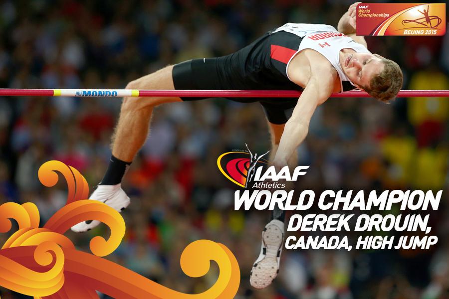 Канадец  победил в прыжках в высоту на ЧМ +Видео