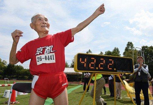 Японец установил мировой рекорд в беге на 100 м для людей старше 105 лет
