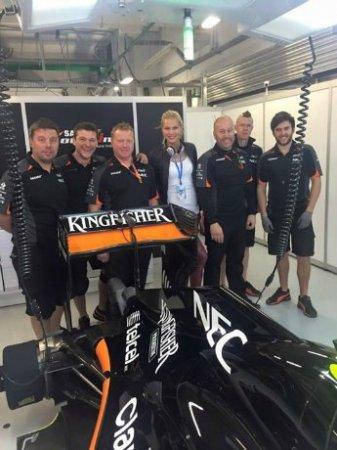 Дарья Клишина посетила этап Гран-при «Формулы-1» в Сочи