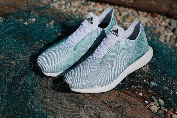 Adidas начнет делать кроссовки из мусора