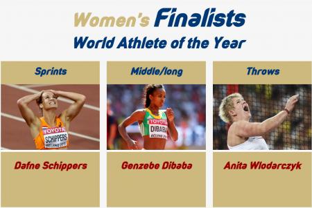 Определены три фаворитки на звания «Лучшей легкоатлетки года»