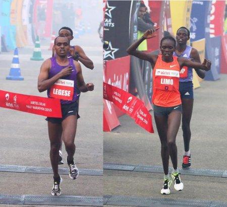 Берхану Легесе и Синтия Лимо выиграли Delhi Half Marathon