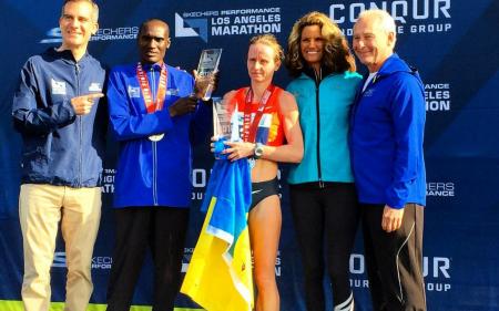 Украинка одержала победу на престижном Лос-Анджелесском марафоне