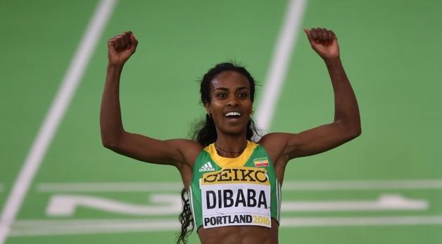 Гензебе Дибаба - чемпионка мира в помещении в беге на 3 000м +Видео
