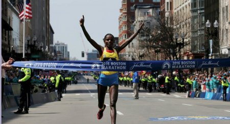 Эфиопы победили на Бостонском марафоне +Видео