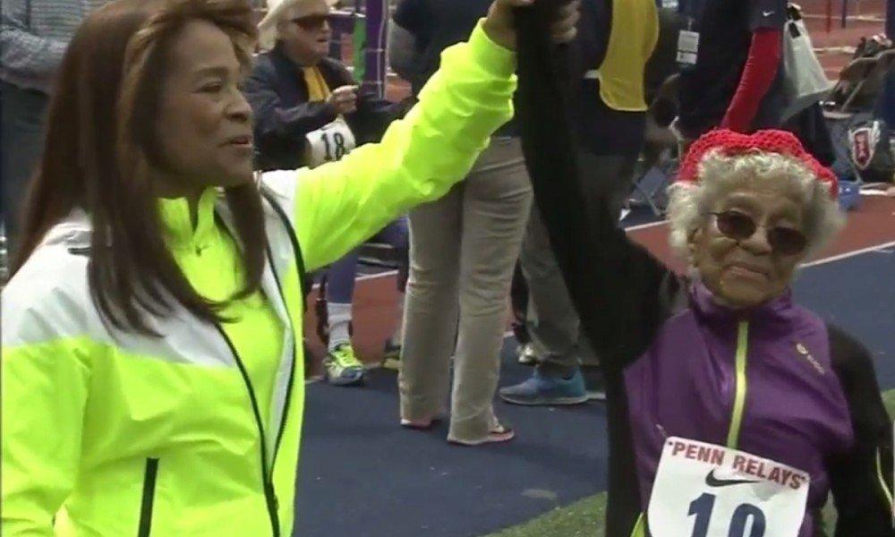 100-летняя бегунья установила мировой рекорд
