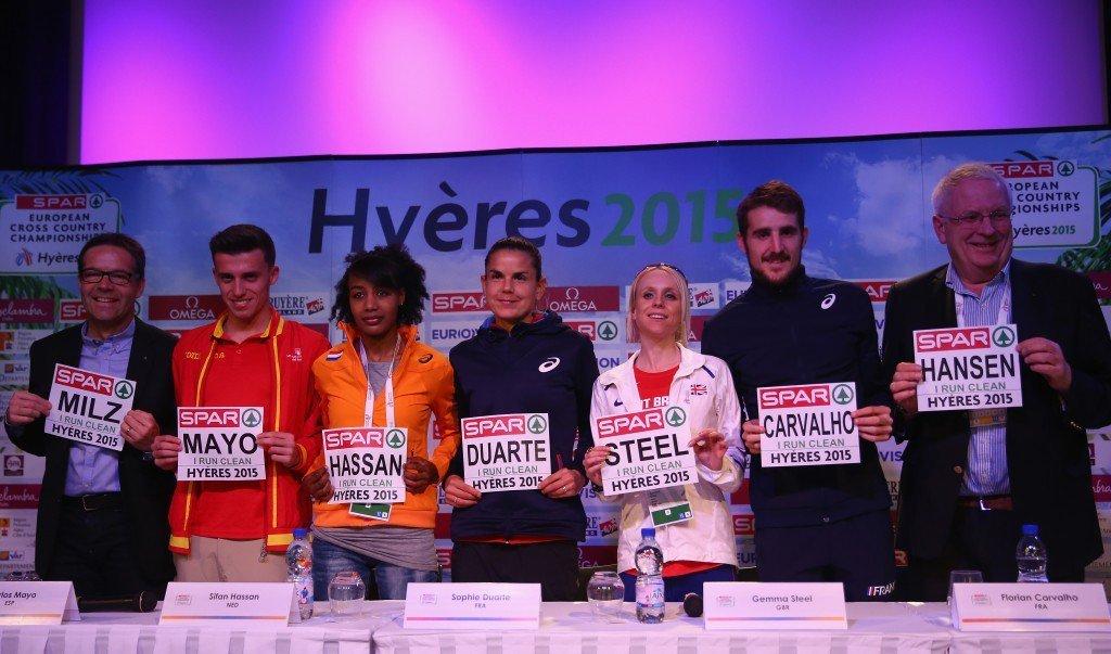 В Амстердаме легкоатлеты будут выступать в бибах с антидопинговыми посланиями