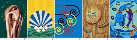 Представлены официальные постеры Олимпийских игр-2016